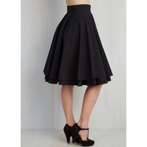 Black Alice Moon Circle Skirt